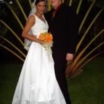 Am Abend überraschte mich meine wunderschöne Braut mit dem weissen Kleid.